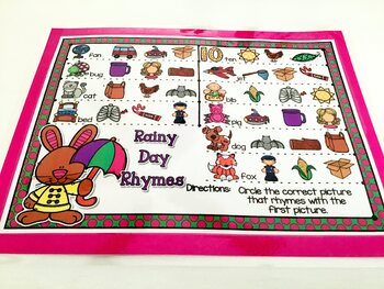 Giggly Games Rainy Day Rhymes Activity Dry Erase Mat