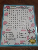 Giggly Games Rainy Days Word Search Dry Erase Mat LOW PREP