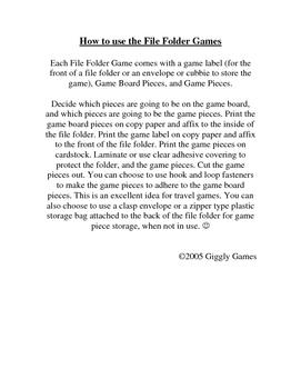 Giggly Games Smart Sailors Basic Skills File Folder Games