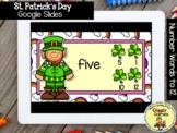 Giggly Games St. Patricks Number Words to 12 GOOGLE SLIDES