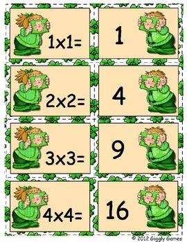 Giggly Games Sunny Shamrocks Doubles Multiplication Envelope Center