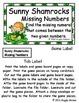 Giggly Games Sunny Shamrocks Missing Numbers File Folder Game