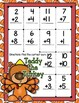 Giggly Games Teddy the Turkey Doubles Addition Activity Dry Erase Mat
