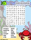 Giggly Games Under The Sea Word Search Dry Erase Mat LOW PREP