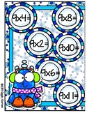 Giggly Games Winter Woobies Multiplication x9 File Folder Game