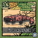 Gila Monster - 15 Zoo Wild Resources - Leveled Reading, Slides & Activities