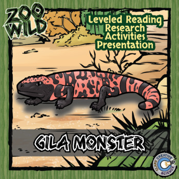 Gila Monster -- 10 Resources -- Coloring Pages, Reading &
