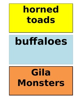 Gila Monsters Meet You at the Airport Vocabulary