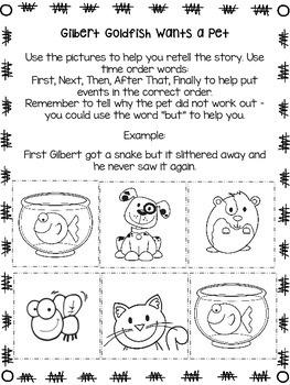 Gilbert Goldfish Wants a Pet Reading Response Activities