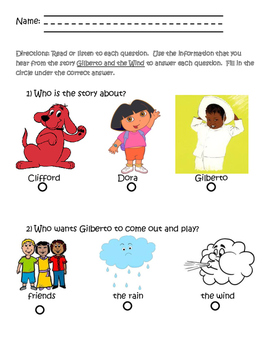 Gilberto and the Wind Activity Packet