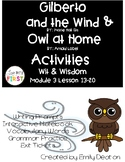 Gilberto and the Wind and Owl at Home Activities First Grade Wit and Wisdom