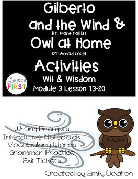 Gilberto and the Wind and Owl at Home Activities First Gra