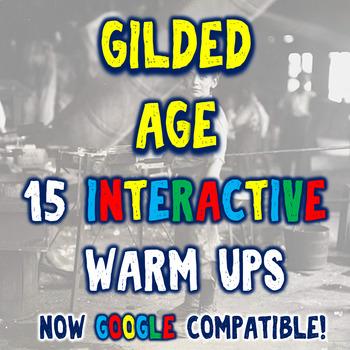 Gilded Age 15 Industrialization Bellringers Warm Ups - DBQ - 2 Formats