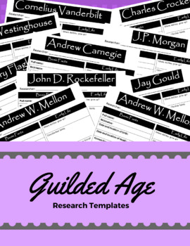 Research Templates - Important People During the Gilded Age