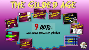 Gilded Age (American Industrial Revolution) MASSIVE BUNDLE (20 PPTs & documents)