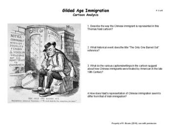 Gilded Age Cartoon Analysis
