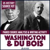 Booker T. Washington W.E.B. Du Bois Primary Source Writing Activity