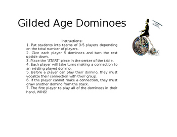 Gilded Age Dominoes