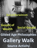 Gilded Age Gallery Walk: Social Darwinism vs. Social Gospe