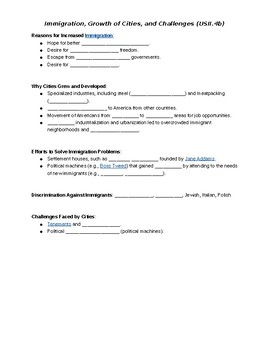 Gilded Age Guided Notes (STUDENT COPY)