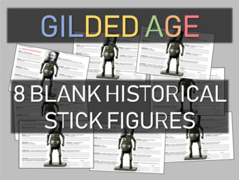 Gilded Age Historical Stick Figure Assignments