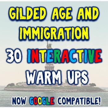 Gilded Age & Immigration 30 Bellringers Warm Ups - Mega Pack - DBQ