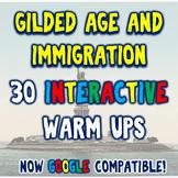 Gilded Age & Immigration 30 DBQ Warm Ups Bellringers Dista