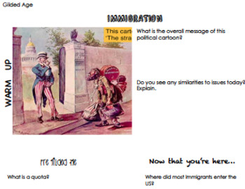 Gilded Age Immigration And Urbanization