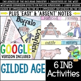 Gilded Age Interactive Notebook Activities; Distance Learn
