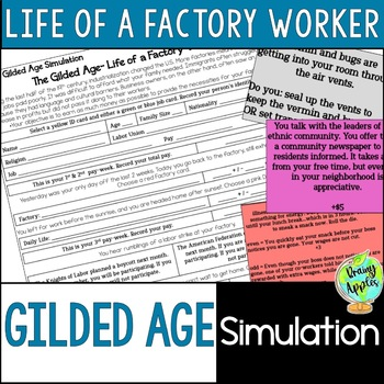 Gilded Age Life of a Factory Worker Simulation