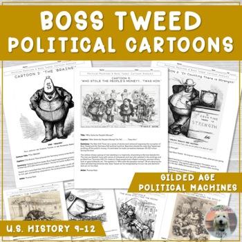 Gilded Age Political Machines Cartoon Analysis (Boss Tweed)