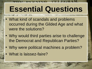 Gilded Age Political  Problems and Progress PowerPoint