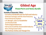 Gilded Age PowerPoint and Notes Bundle