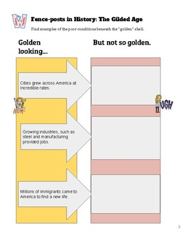 Gilded Age Progressive Era Guided Notes and Activities