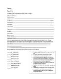 Gilded Age, Progressive Era, World War I Review Packet