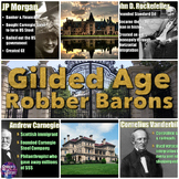 Gilded Age Robber Barons PowerPoint and Guided Notes