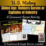 Gilded Age: Robber Barons or Captains of Industry Activity | Distance Learning