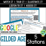 Gilded Age Station Activities; Late 19th Century; Digital