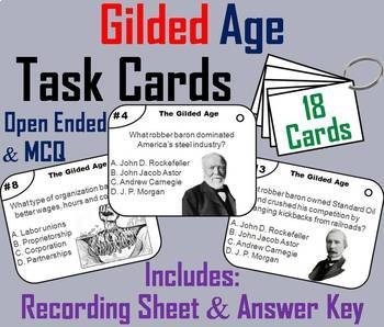 Gilded Age Task Cards and Activities Bundle
