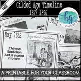 Gilded Age Timeline {A Printable for Your Classroom}