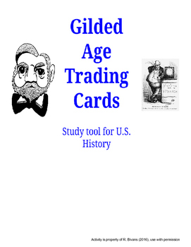 Gilded Age Trading Cards - U.S. History