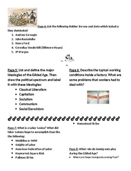 Gilded Age Unit Review Foldable