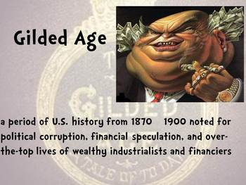 Gilded Age (1877-1900) Word Wall