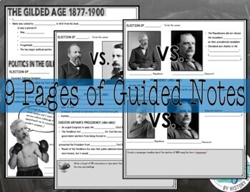 Gilded Age and Populism 1877-1900 PowerPoint and Guided Notes