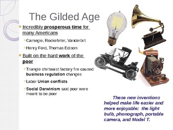 Gilded Age to Great Depression Review