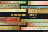 Gilded Dreams Art Border Clip Art 32 JPG Clip Art Strips 1