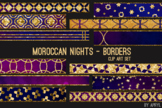 Moroccan Nights Art Border Clip Art 32 JPG Clip Art Strips