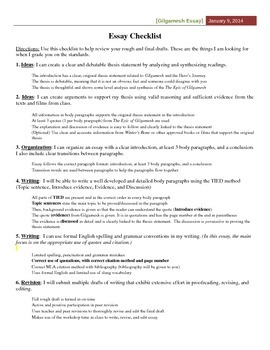 Essay On Good Health Gilgamesh Essay Packet Business Studies Essays also English Reflective Essay Example Gilgamesh Essay Packet By Inquiry And Collaborative Based Learning Business Strategy Essay