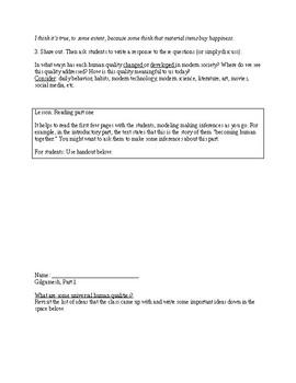 Gilgamesh Handouts and Activities