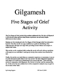 Gilgamesh Stages of Grief Activity (discussion starter / essay / assessment)